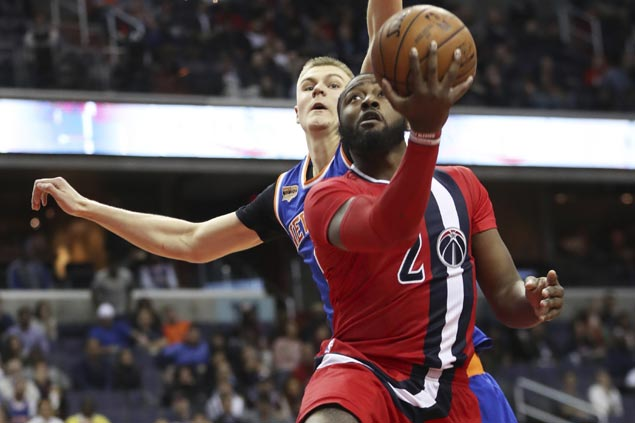 Wizards catch fire from deep, hold on to beat Knicks and snap three-game slide