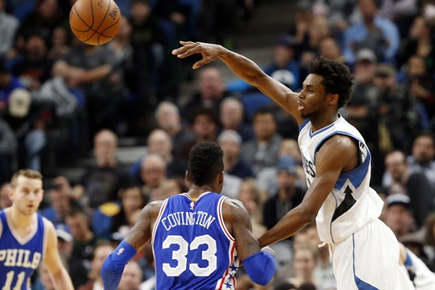 Wiggins leads Minnesota's balanced attack as Timberwolves keep Sixers winless on the road