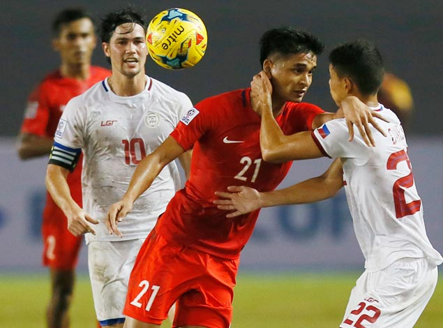Azkals fail to fire against 10-man Singapore, settle for Suzuki Cup draw