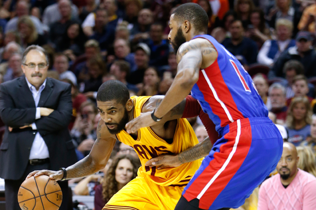 Kyrie Irving shows way, LeBron James returns as Cavs bounce back with rout of Pistons