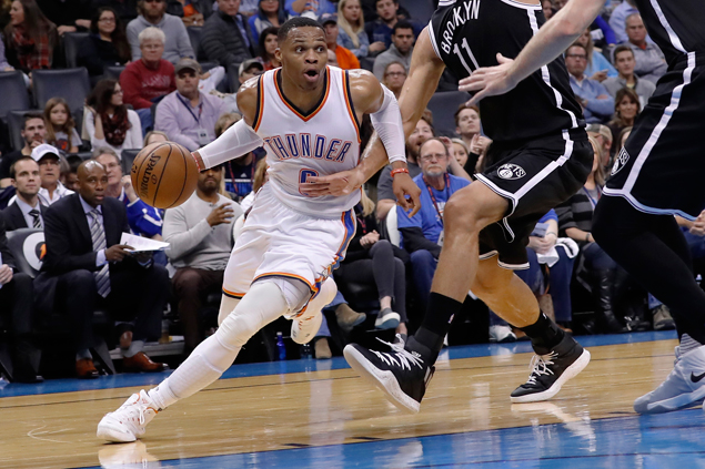 Russell Westbrook posts another triple-double as Thunder rip Nets