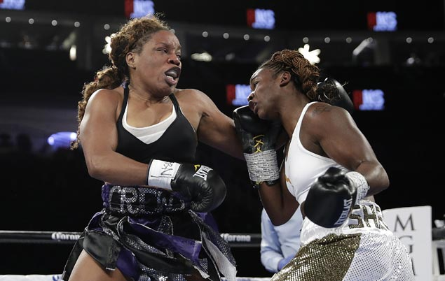 Twice Olympic gold medalist Claressa Shields outpoints Franchon Crews in pro debut