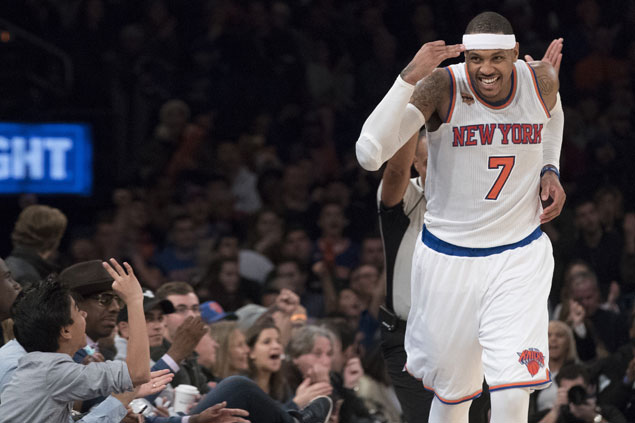 Knicks stars Carmelo Anthony, Derrick Rose to sit out showdown vs Warriors due to injuries