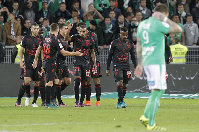 Nice reclaims top spot in Ligue 1 with slim win at Saint-Etienne