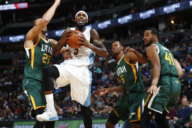 Nuggets bank on balanced attack to deal weary, depleted Jazz their fourth loss in a row