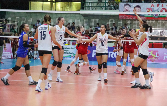 Foton Tornadoes make short work of lowly Cignal to gain share of Super Liga lead