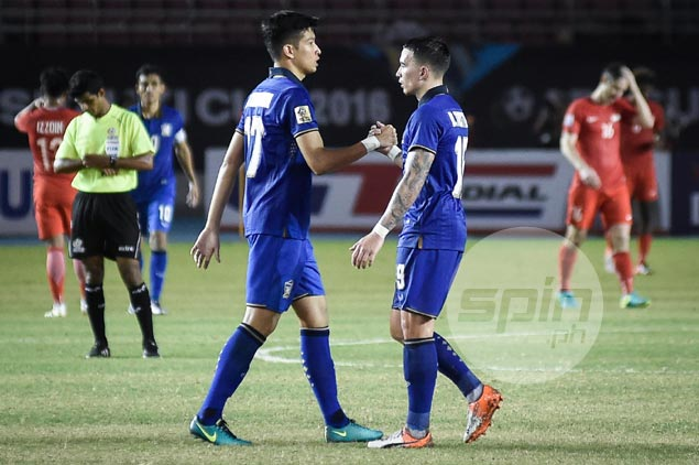 Thailand seals Suzuki Cup semis berth after beating Singapore on late goal