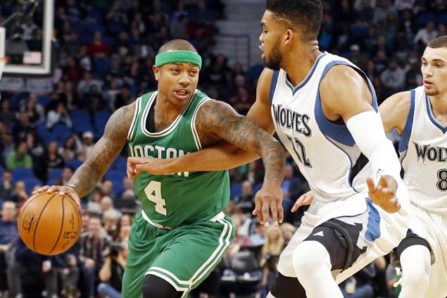 Celtics catch fire in fourth to claw back from 15 points down to defeat skidding Timberwolves