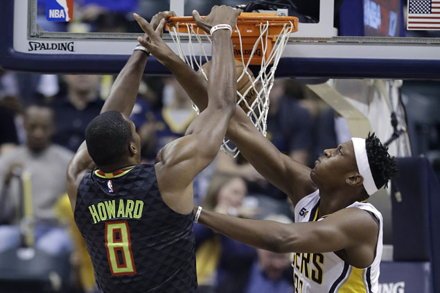 Hawks turn back Pacers to start five-game road trip with a win, snap three-game slide