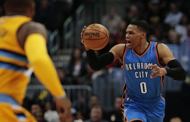Westbrook posts another triple-double as Thunder rally to beat Nuggets and snap three-game skid