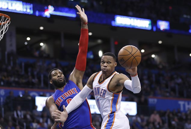 Another triple-double by Westbrook gets Thunder back-to-back wins as Pistons streak ends at two
