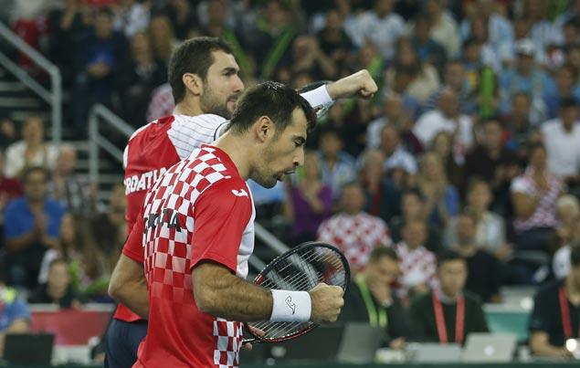 Croatia takes Davis Cup lead over Argentina as Cilic-Dodig defeat Del Potro-Mayer