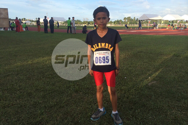 Kent Lloyd Gavino shows big heart in keeping pace with runners twice his size in Batang Pinoy