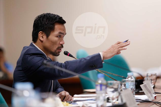 Pacquiao vows bill to delineatePOC, PSC functions after long, testy Senate hearing