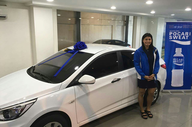 Myla Pablo rewarded with five-year contract extension, new car by Pocari Sweat