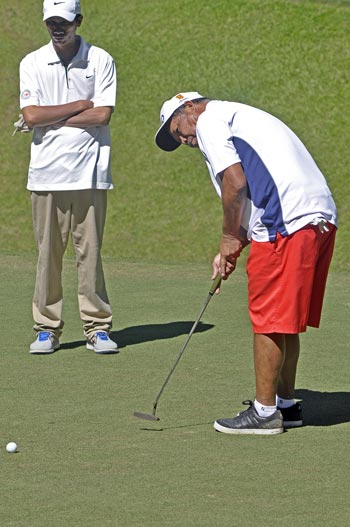 San Miguel carries five-point lead over Southwoods into final round of Fil-Am golf