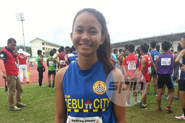 Samantha Limos nearly sets new mark with wind-aided run for gold in 100m dash in Batang Pinoy