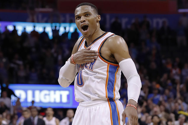 Thunder edge Wizards in OT for fourth straight win as Westbrook posts fourth consecutive triple-double