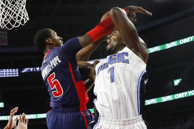 Serge Ibaka shows way as Magic down Pistons and spoil Reggie Jackson's season debut