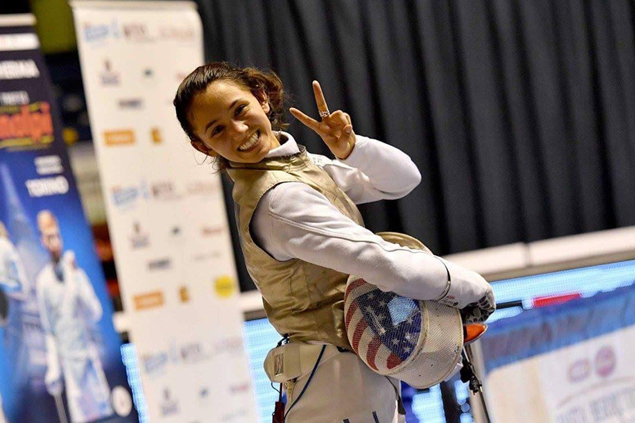 Fil-Am fencer Lee Kiefer bags gold medal in Turin Grand Prix in Italy