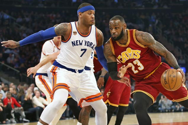 Lebron James denies lobbying for Melo Anthony-Kevin Love trade, calls report 'trash'