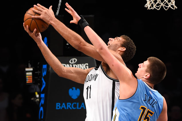 Brook Lopez stars as Nets survive late Nuggets rally to snap three-game skid