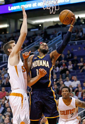 Double-doubles by Paul George, Jeff Teague power Pacers past Suns