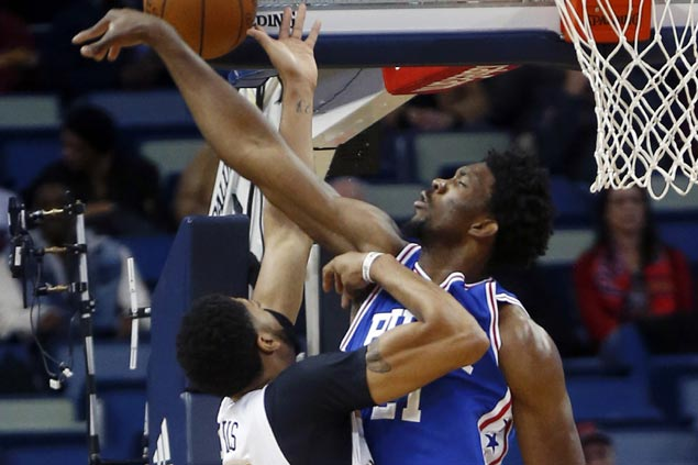 Sixers stun Pelicans to end franchise-record 23-game losing streak on the road