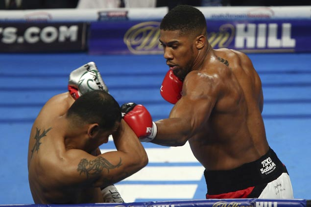 Anthony Joshua sets up bout with Wladimir Klitschko after outclassing Eric Molina to retain heavyweight belt