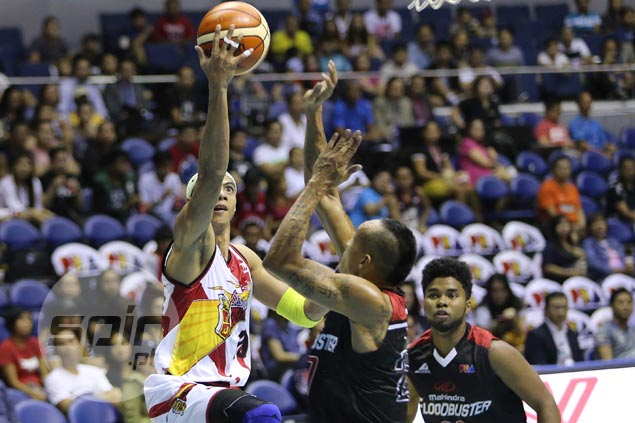Fajardo, Santos spare San Miguel blushes in close call vs winless Mahindra