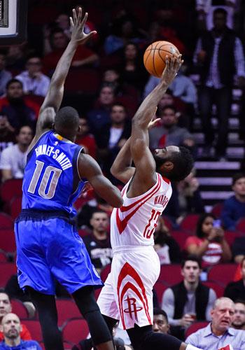 James Harden has double-double as Rockets send Mavs crashing back to earth