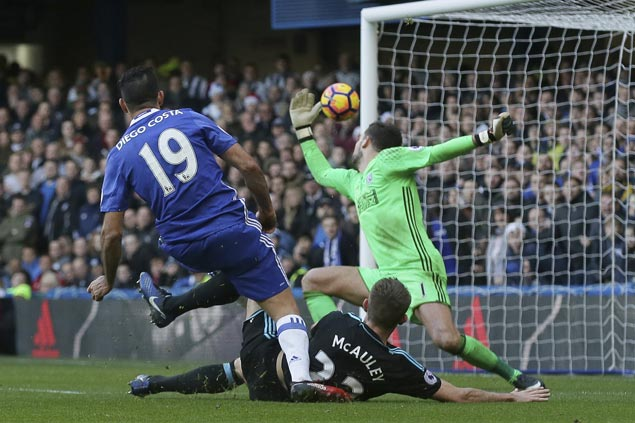 Chelsea win streak now at nine as Costa again saves Blues with late strike against West Brom