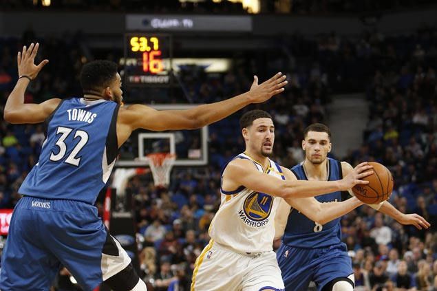 Klay Thompson bounces back as Warriors vent ire on Timberwolves