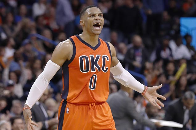 Westbrook not after triple-double record, MVP award, says target is a championship