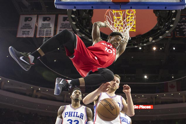 DeRozan drops 31 early, Lowry takes over late as surging Raptors snap Sixers two-game win run