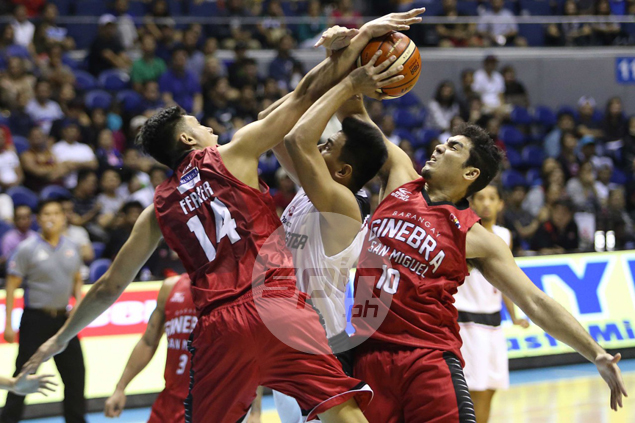 Ginebra turns to defense, Aguilar's dominance inside to keep Mahindra winless