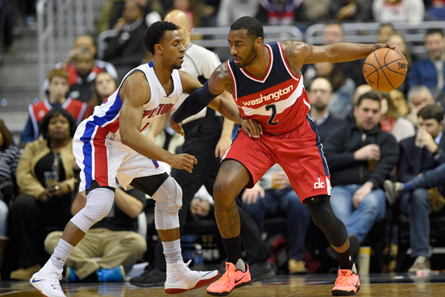 John Wall posts double-double as Wizards defeat Pistons for fourth straight home win