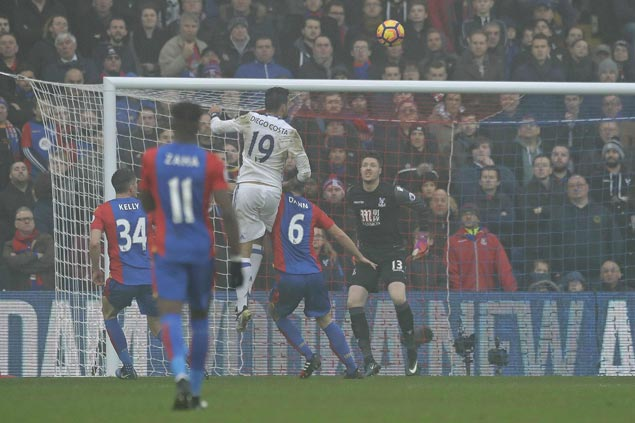Chelsea makes it 11 straight wins in Premier League as Costa heads Blues past Palace