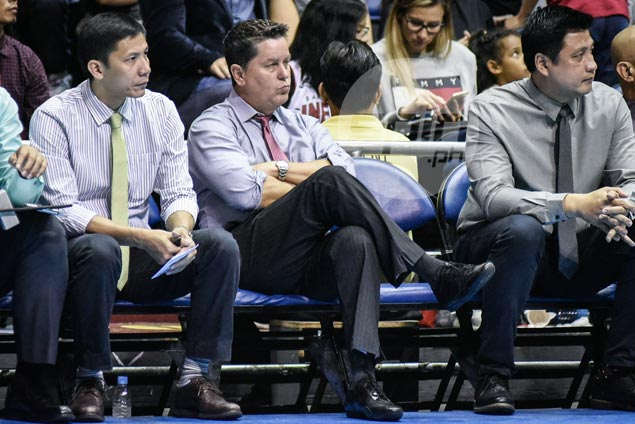 Tim Cone gives players the silent treatment on a long night on Ginebra bench