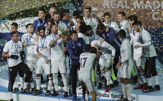 Cristiano Ronaldo scores hat trick as Madrid beats Japan's Kashima Antlers in Club World Cup final