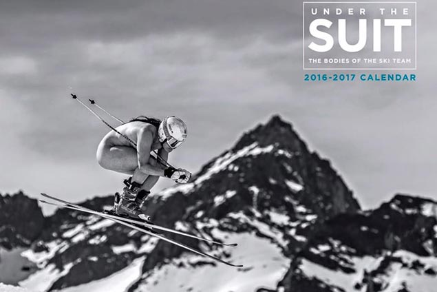 US ski racers pose nude for special 'Under the Suit' calendar to raise funds for team