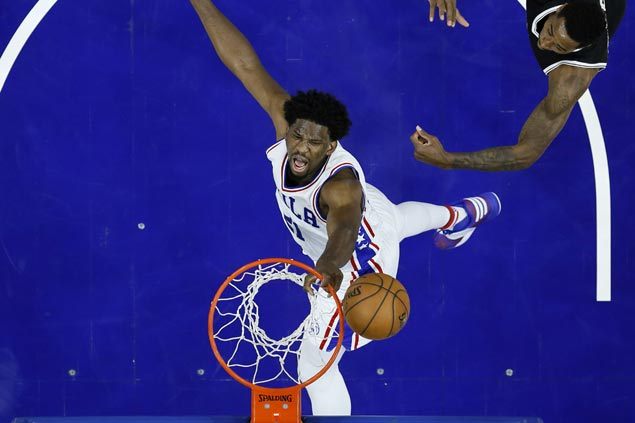 Joel Embiid caps career game with clutch free throws to lift Sixers past Nets