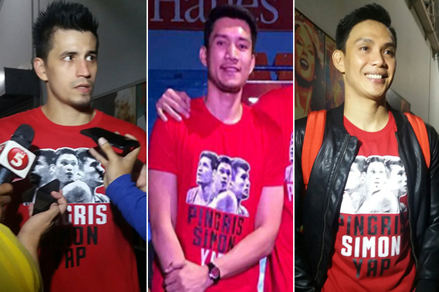 Despite break-up, 'Big Three' Yap, Simon, Pingris still throw party for loyal fans