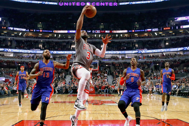 Bulls vent ire on Pistons with 31-point rampage to break out of three-game funk