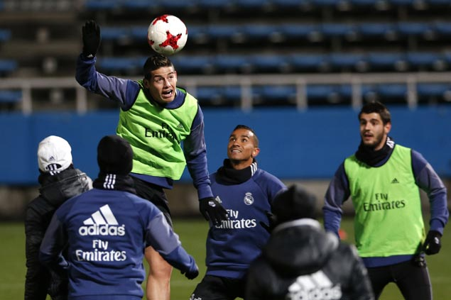 Real Madrid skipper Sergio Ramos scolds James Rodriguez for outburst on lack of playing time