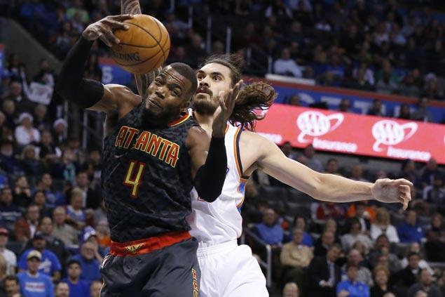 Paul Millsap hits go-ahead jumper as Hawks nip Thunder to spoil Westbrook's 46-point barrage