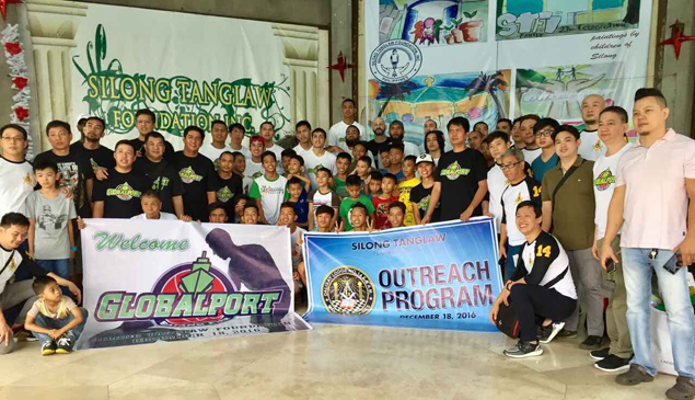 Terrence Romeo and Co. play Santa to kids of Silong Tanglaw Foundation