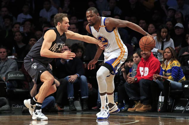 Durant, Thompson torch Nets in the third as Golden State avoids upset ax against Brooklyn