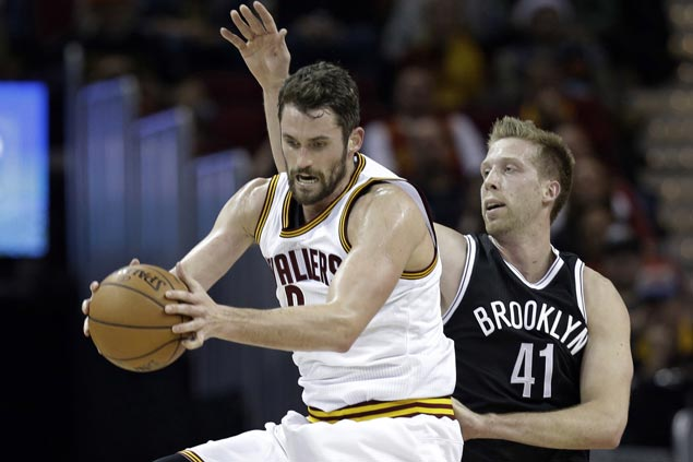 James, Thompson, Love show way as Cavs score wire-to-wire win over lowly Nets