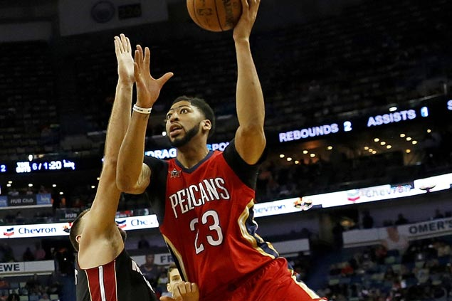 Anthony Davis 20-20 game powers Pelicans comeback from 14 points down to stun Heat